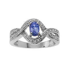 Genuine Purple Tanzanite Sterling Silver Ring