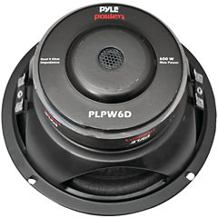 Pyle PLPW6D Power Series Dual Voice-Coil 4? Subwoofer (6.5IN; 600 Watts)