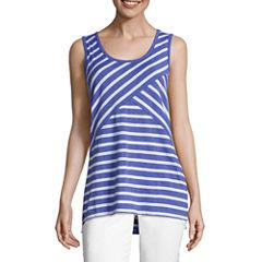 Liz Claiborne Criss-Cross Stripe Knit Tank Top