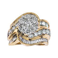 4 CT. T.W. Diamond 14K Two-Tone Gold Swirl Ring