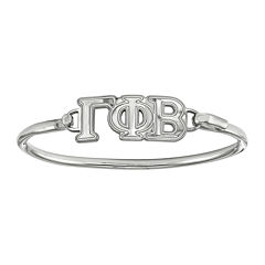 Personalized Sterling Silver Sorority Bangle Bracelet