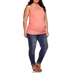 a.n.a® Maternity Racerback Tank Top or Overbelly Roff Cuff Skinny Jeans - Plus
