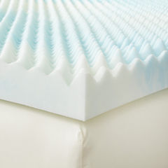 Restful Solutions Supreme Textured 4 Inch GEL Memory Foam Topper