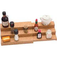 Lipper Expandable 3-Tier Shelf with Cork Lining