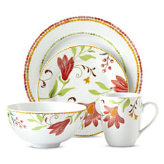 Oneida® Italian Cypress 16-pc. Floral Dinnerware Set