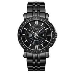 JBW Vault Black Ion-Plated Stainless Steels 0.24 C.T.W Diamond Accent Mens Black Bracelet Watch-J6343d