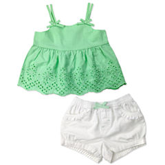 Arizona 2-pc. Short Set Baby Girls