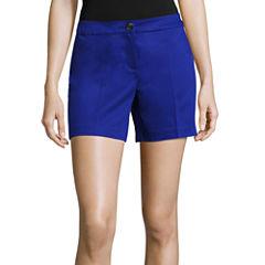 Worthington Woven At Waist Shortie Shorts
