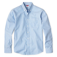 IZOD® Long Sleeve Oxford Shirt - Boys 8-20 and Husky