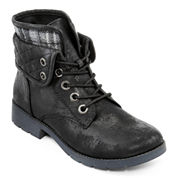 Arizona Yvonne Womens Quilted Lace-Up Ankle Boots