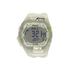 Asics Ar08 Night Run Unisex Clear Strap Watch-Cqar0802y