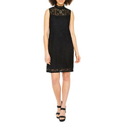 Ronni Nicole Sleeveless Lace Shift Dress