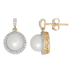 Sofia 1/6 CT. T.W. Round White Pearl 10K Gold Stud Earrings