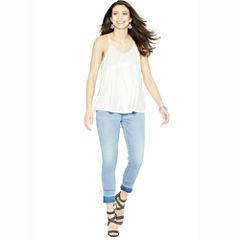 Belle + Sky Release Hem Crop Jeans