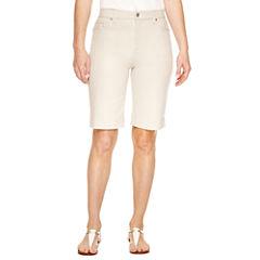Gloria Vanderbilt Classic Fit Twill Bermuda Shorts