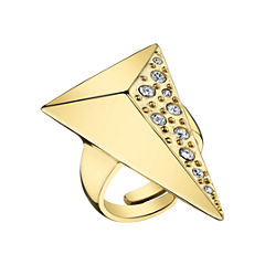 DOWNTOWN BY LANA Gold-Tone Half-Pyramid Ring