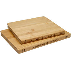 Sabatier® Library 2-pc. Bamboo Cutting Board Set