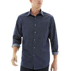 Claiborne® Long-Sleeve Chambray Shirt