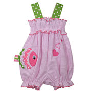 Bonnie Jean Sleeveless Smocked Bubble Romber Dress - Baby Girls
