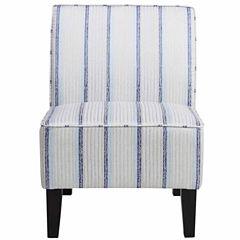 Home Meridian Striped Slipper Chair