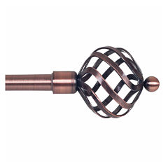 Twisted Sphere 3/4 IN Curtain Rod
