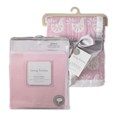 Muslin Jacquard Blanket and Fitted Crib Sheet Set
