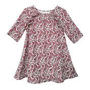 Marmelatta Long-Sleeve Print Dress - Toddler Girls 2t-4t