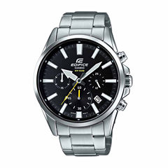 Casio Edifice Mens Silver Tone Bracelet Watch-Efv510d-1av