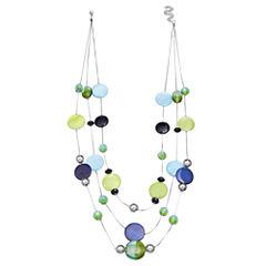 Mixit Clr 0717 Bluegreen Womens Illusion Necklace