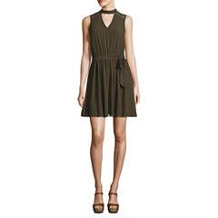 Byer California Sleeveless A-Line Dress-Juniors