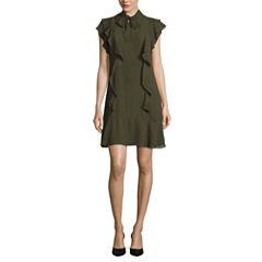 Worthington Short Sleeve Fit & Flare Dress