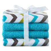 Home Expressions™ Chevron 4-pk. Washcloth Set