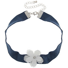 City Streets Womens Clear Choker Necklace