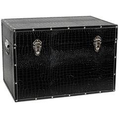 Oriental Furniture Faux Leather Storage Trunk