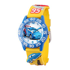 Disney Cars Easy-Read Plastic Strap Watch