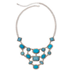 Arizona Blue Stone Bib Necklace