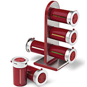 Zevro® 6-Canister Magnetic Countertop Spice Rack