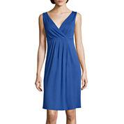 St. John's Bay® Sleeveless Tank A-Line Dress