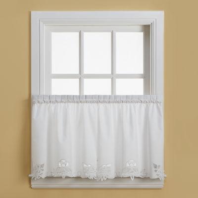 Battenburg Rod Pocket Kitchen Curtains