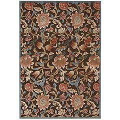 Nourison® Wilshire High-Low Carved Floral Rectangular Rug