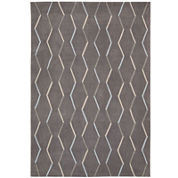 Nourison® Ripple Hand-Carved Rectangular Rug