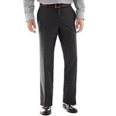 The Savile Row Company Charcoal Flat-Front Suit Pants - Slim