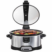 Hamilton Beach® Programmable Stay or Go® 6 Quart Slow Cooker