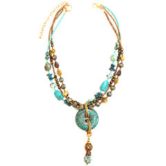 Aris by Treska Double-Row Pendant Necklace