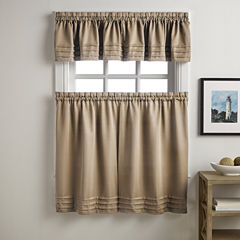 Addison Solid Twill Rod-Pocket Kitchen Curtains