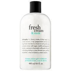 philosophy Fresh Cream & Mint Shampoo, Shower Gel & Bubble Bath