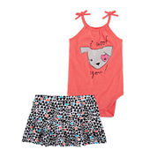 Okie Dokie® Sleeveless Bodysuit or Knit Skort - Baby Girls newborn-24m