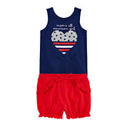 Okie Dokie® Americana Tank Top or Americana Shorts - Baby Girls newborn-24m
