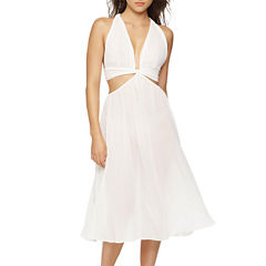 Jezebel Luna Chiffon V Neck Nightgown-Average Figure
