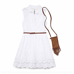 Knit Works Sleeveless Shirt Dress - Big Kid Girls